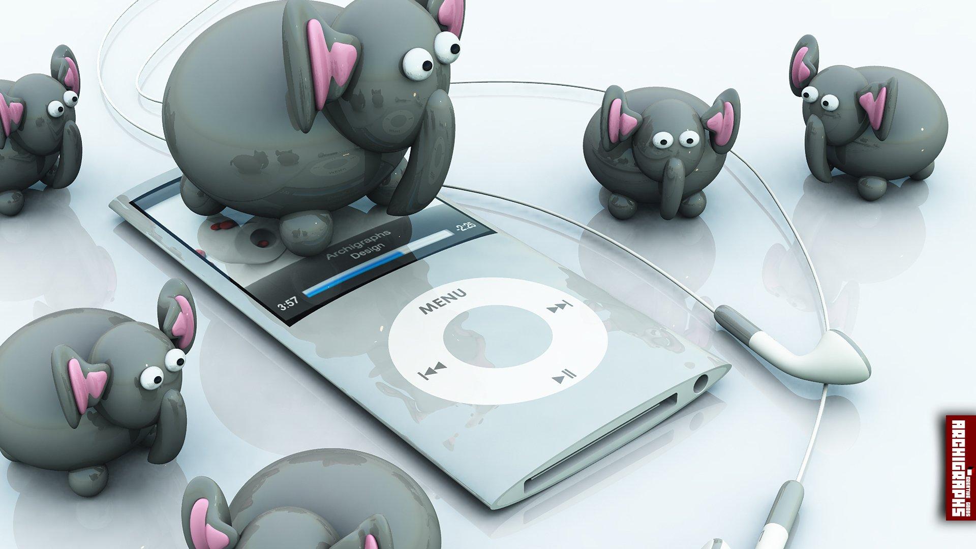 overy桌面壁纸壁纸,Archigraphs创意3D动物插画设计壁纸壁纸图片