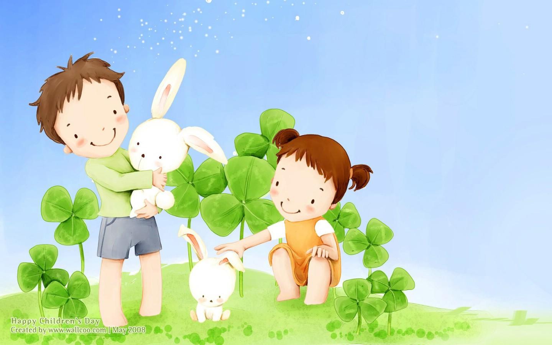 小白兔卡通 壁纸