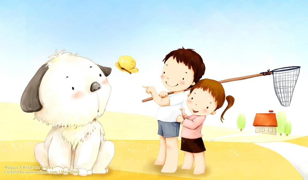 韩国卡通儿童插画壁纸