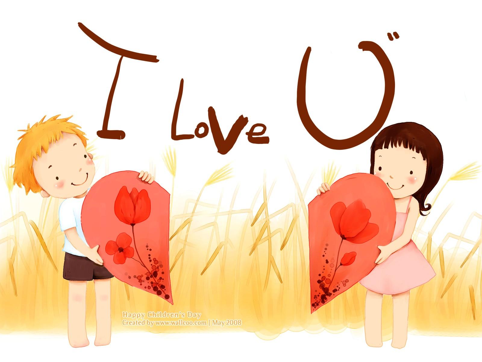 ×1200儿童节 可爱儿童插画壁纸 好朋友 韩国卡通儿童