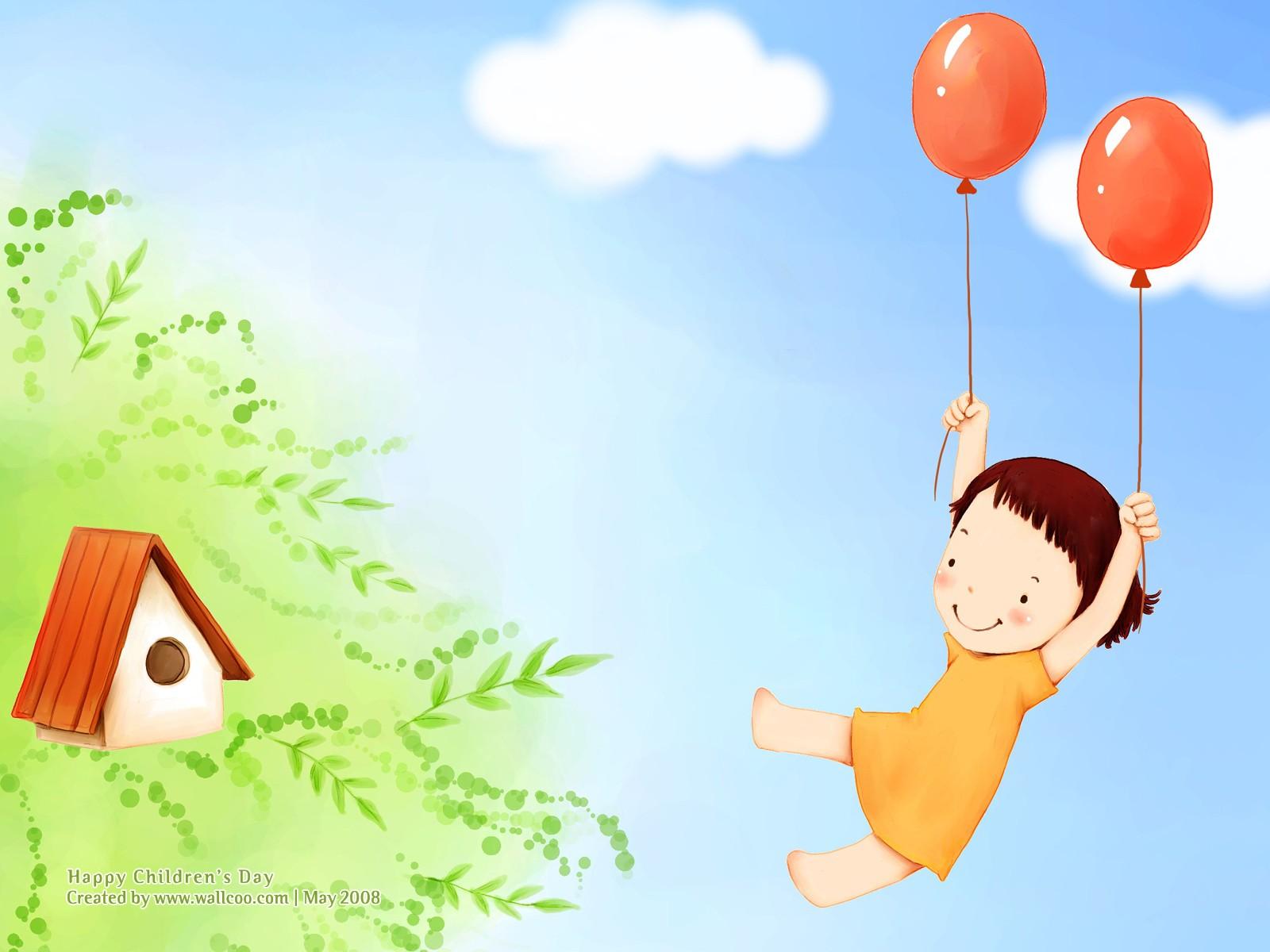 儿童节可爱世青卡通足球可爱小女孩漫画图片小将儿童插画壁纸图片
