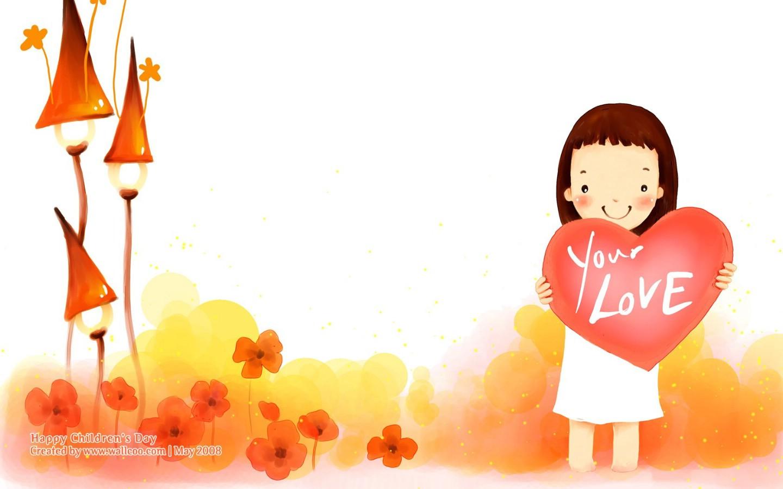 可爱小女孩卡通图片