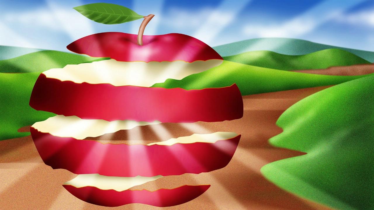 美食 电脑绘图 苹果 绘画书法 文化艺术 设计 72DPI
