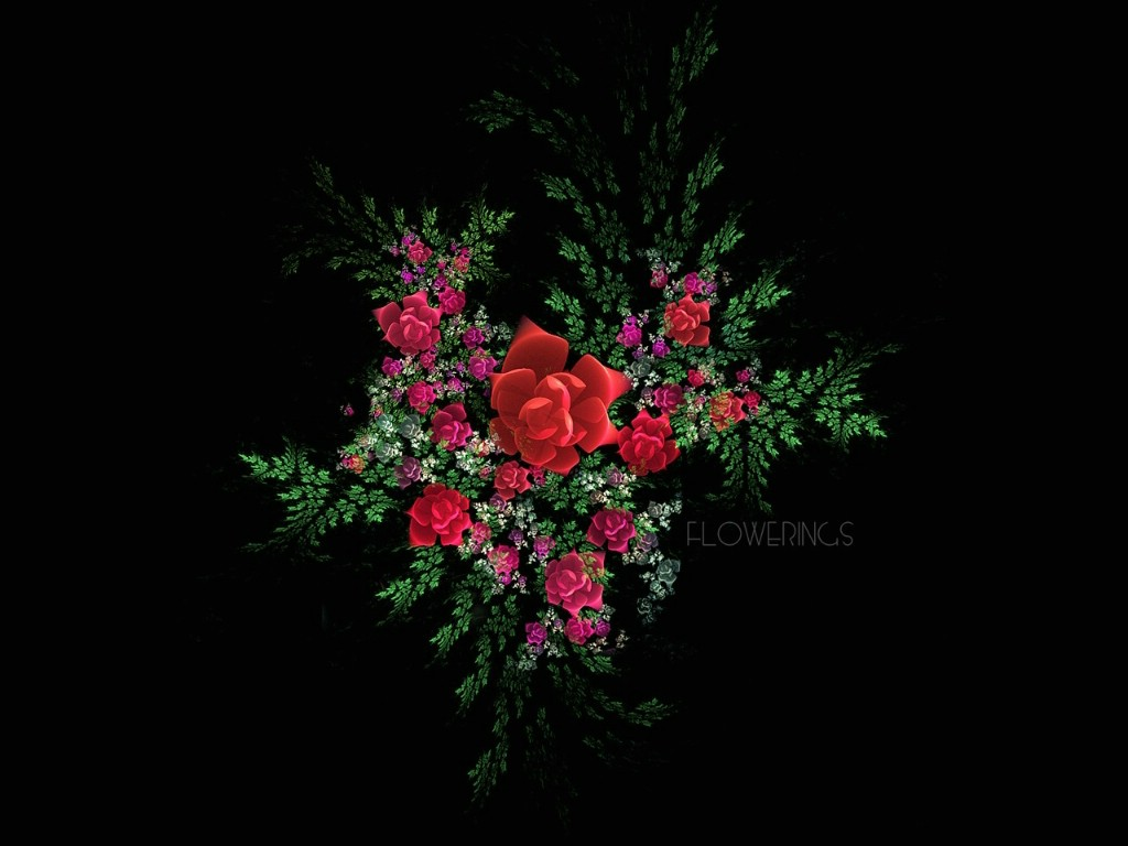 复古几何花纹炫彩几何型分层分形创意花朵手机壁纸
