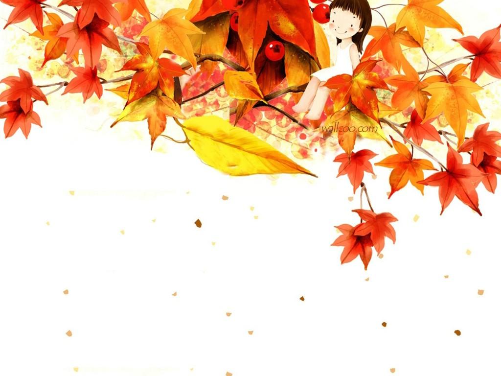 背景 壁纸 枫叶 红枫 绿色 绿叶 树 树叶 植物 桌面 1024_768