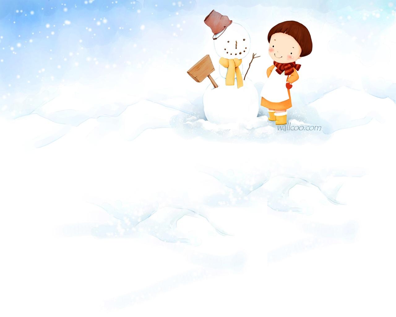 """冬天带宝宝堆雪人""""简易教程"""""""