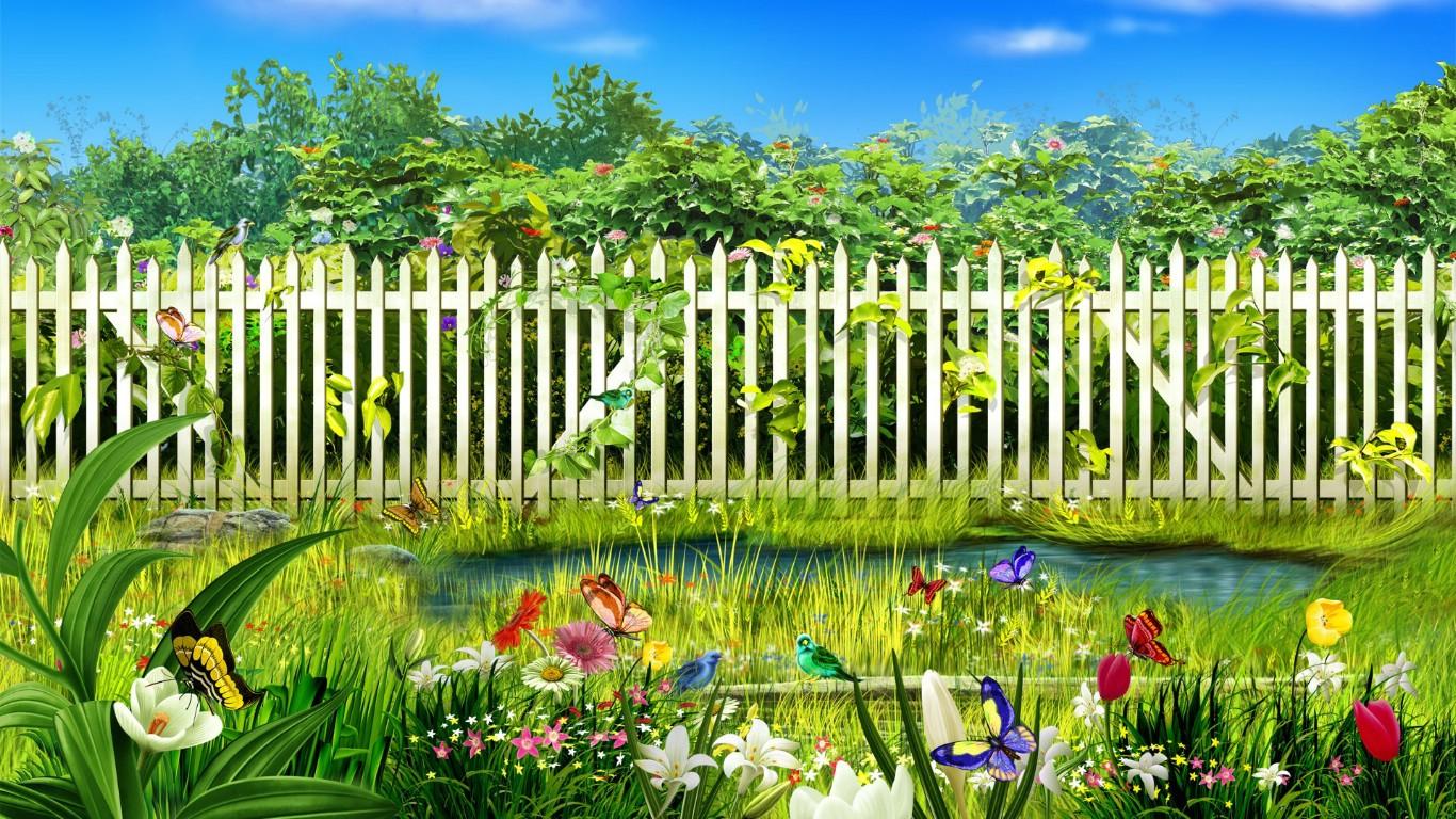 春天的花园 韩国精品风景cg壁纸