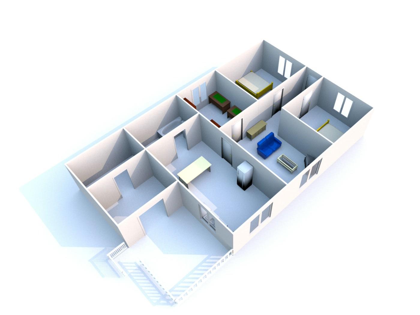 壁纸1400 215 1050住宅建筑3d设计蓝图壁纸 建筑蓝图壁纸图片 插画壁纸 插画图片素材 桌面壁纸