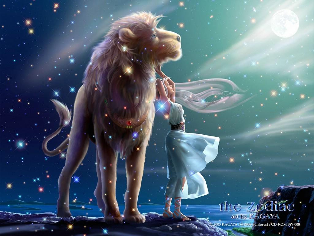 狮子座星空壁纸图片