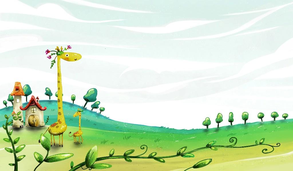 卡通四季风景童话