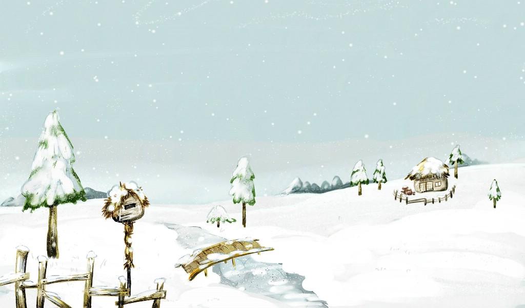 卡通冬天下雪的图片_下雪天卡通图片_冬天卡通图片