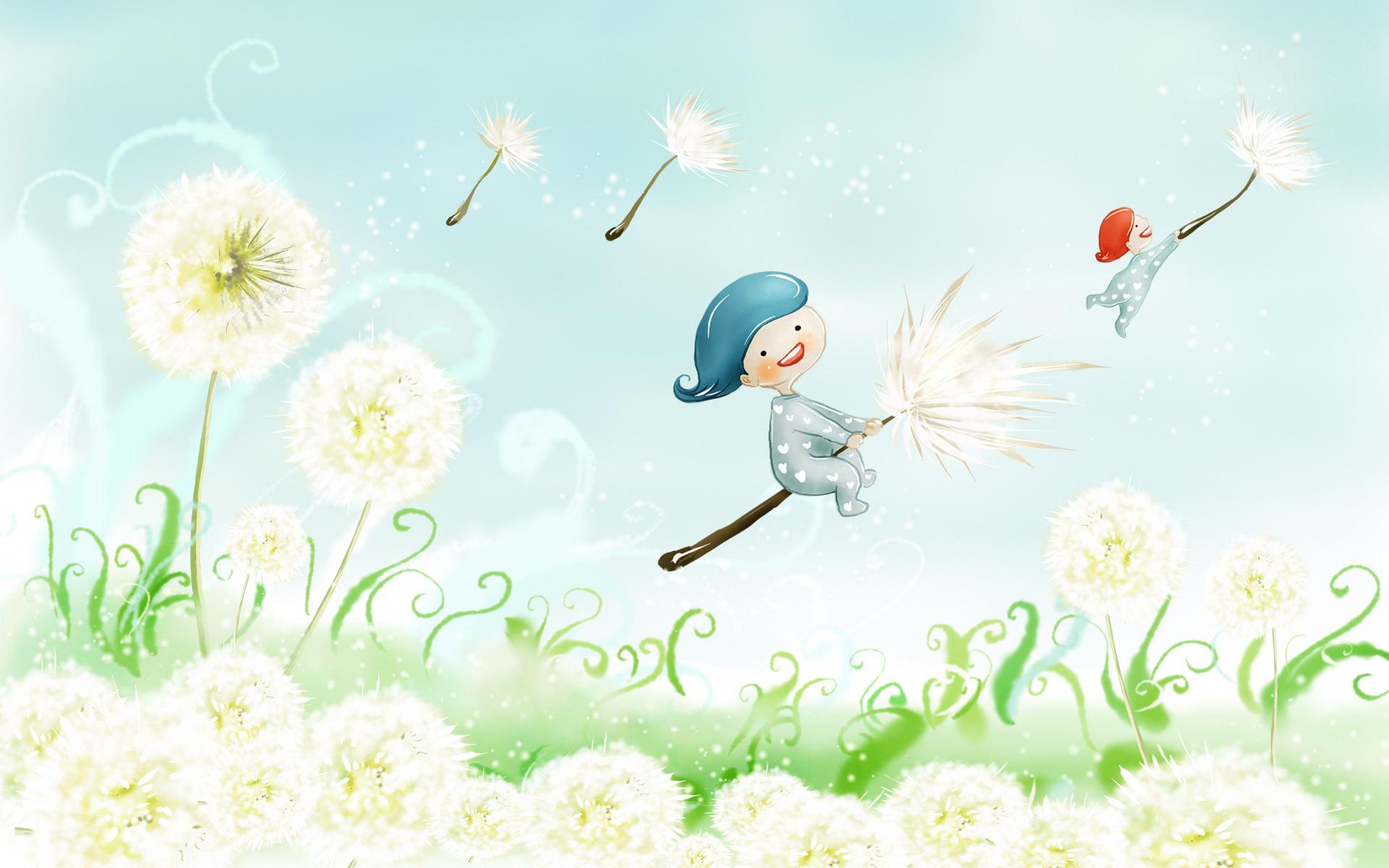 1200童话夏天 精美夏天风景插画 夏天风景壁纸 精美夏天插画 卡通夏天图片壁纸,卡通四季风景 童话夏天壁纸图片