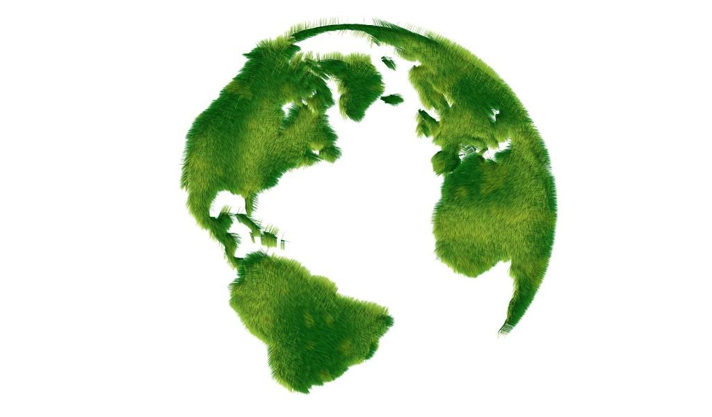 绿色草地环保标志图片