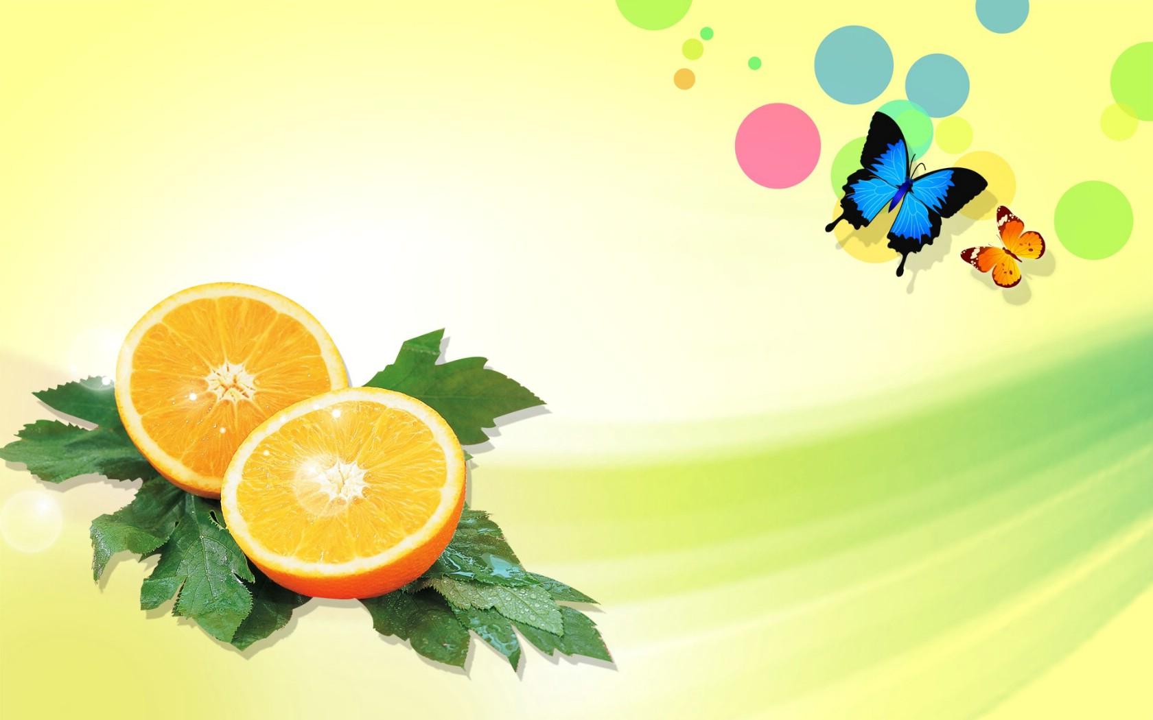 <font color=red>壁纸</font>1680×1050橙 PS<font color=red>水果图片壁纸</font>,PSD清新