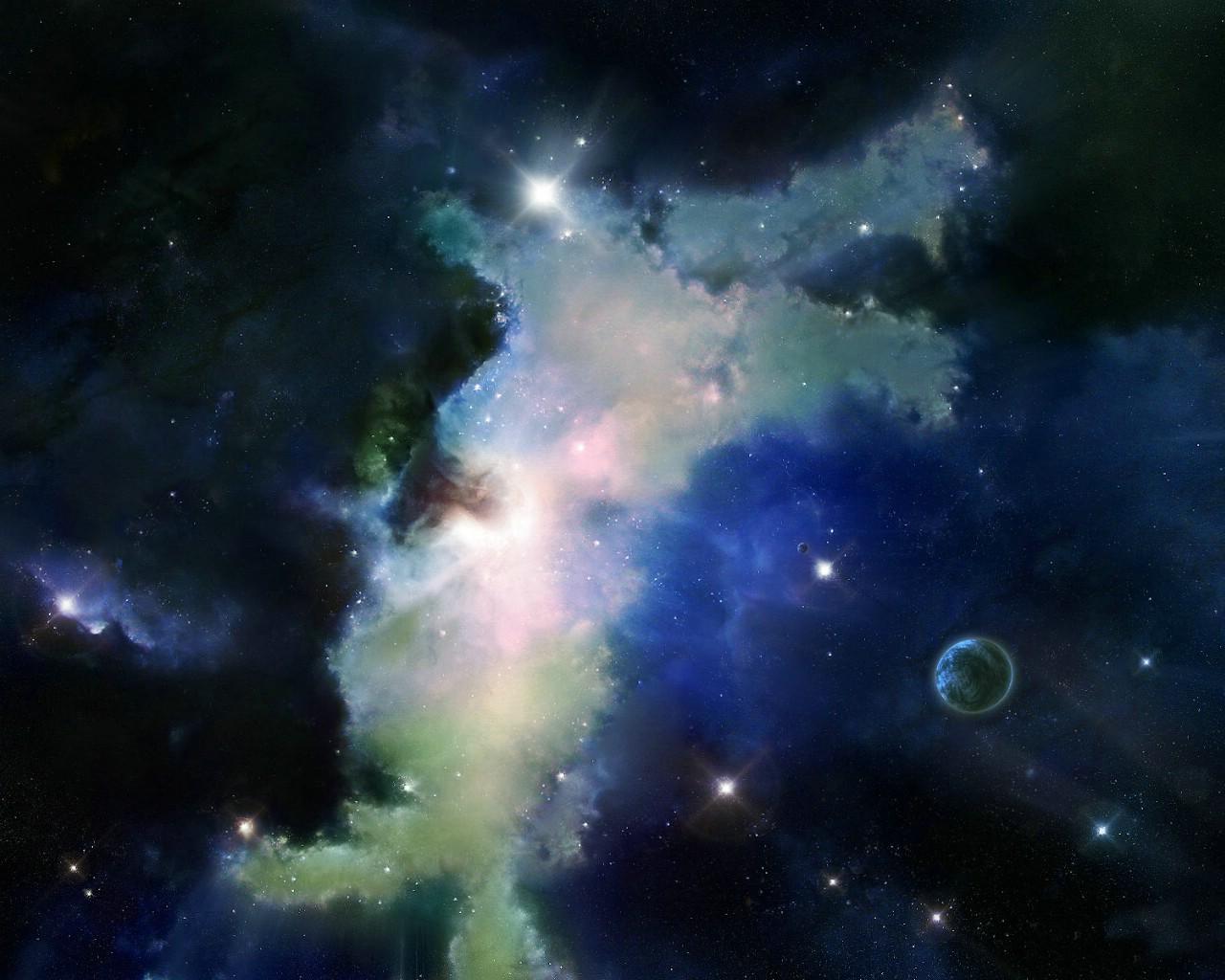 宇宙星球cg插画桌面