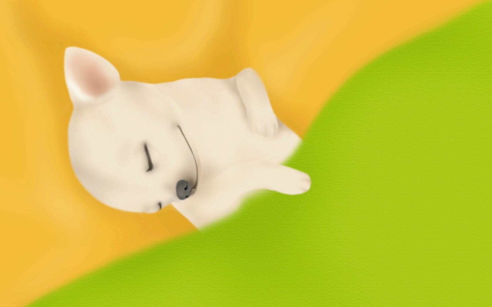 壁纸1680×1050手绘趣味小狗狗图片壁纸 painter 柔和插画我的宠物狗