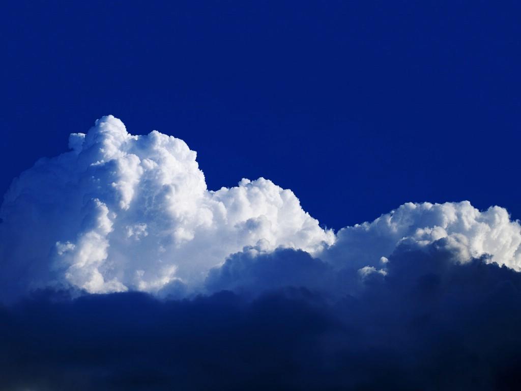深蓝天空白云壁纸图片壁纸壁纸 大自然纯朴之美壁纸图片风景壁纸风景
