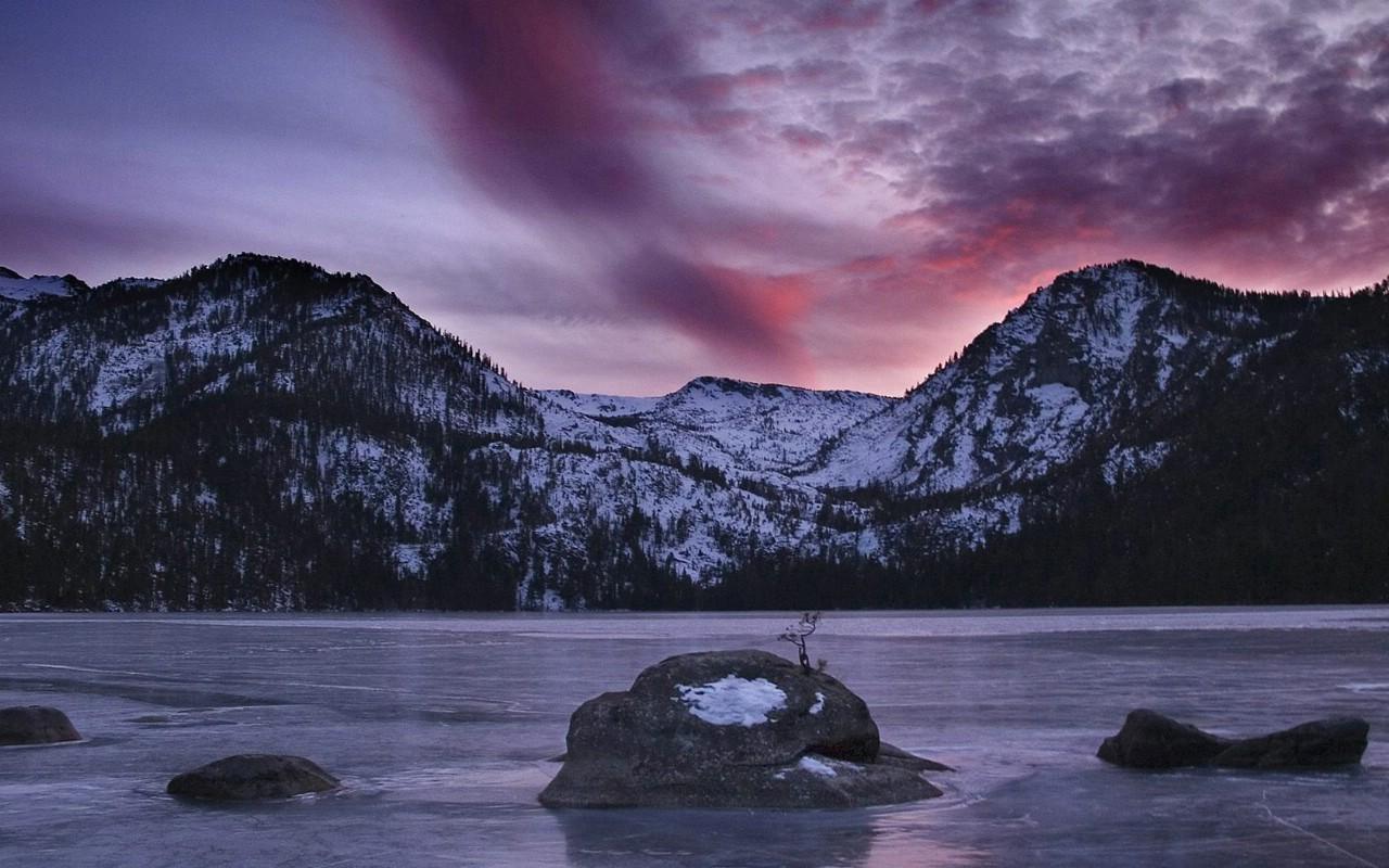 金克斯原图_壁纸1280×800加州内华达山脉 卡斯克德湖壁纸壁纸,地球瑰宝自然 ...