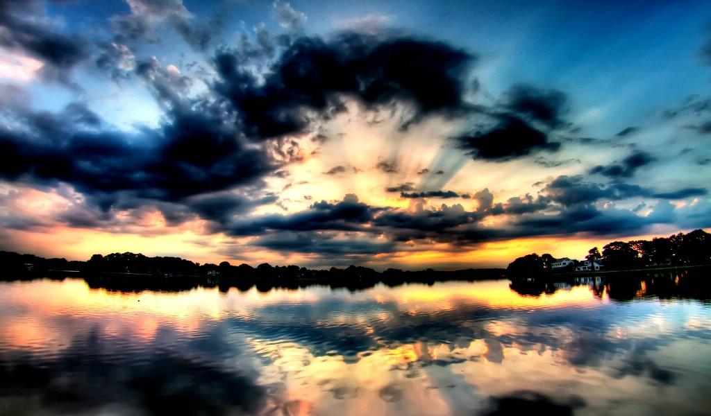 夜色星空云海风景-高清电脑桌面壁纸下载