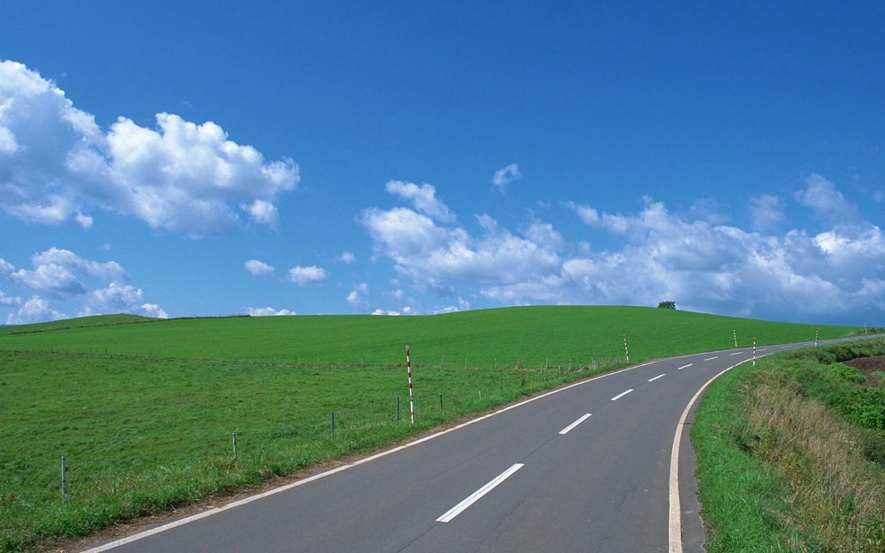 绿草地图片高清桌面壁纸_风景壁纸_电脑壁纸_主题