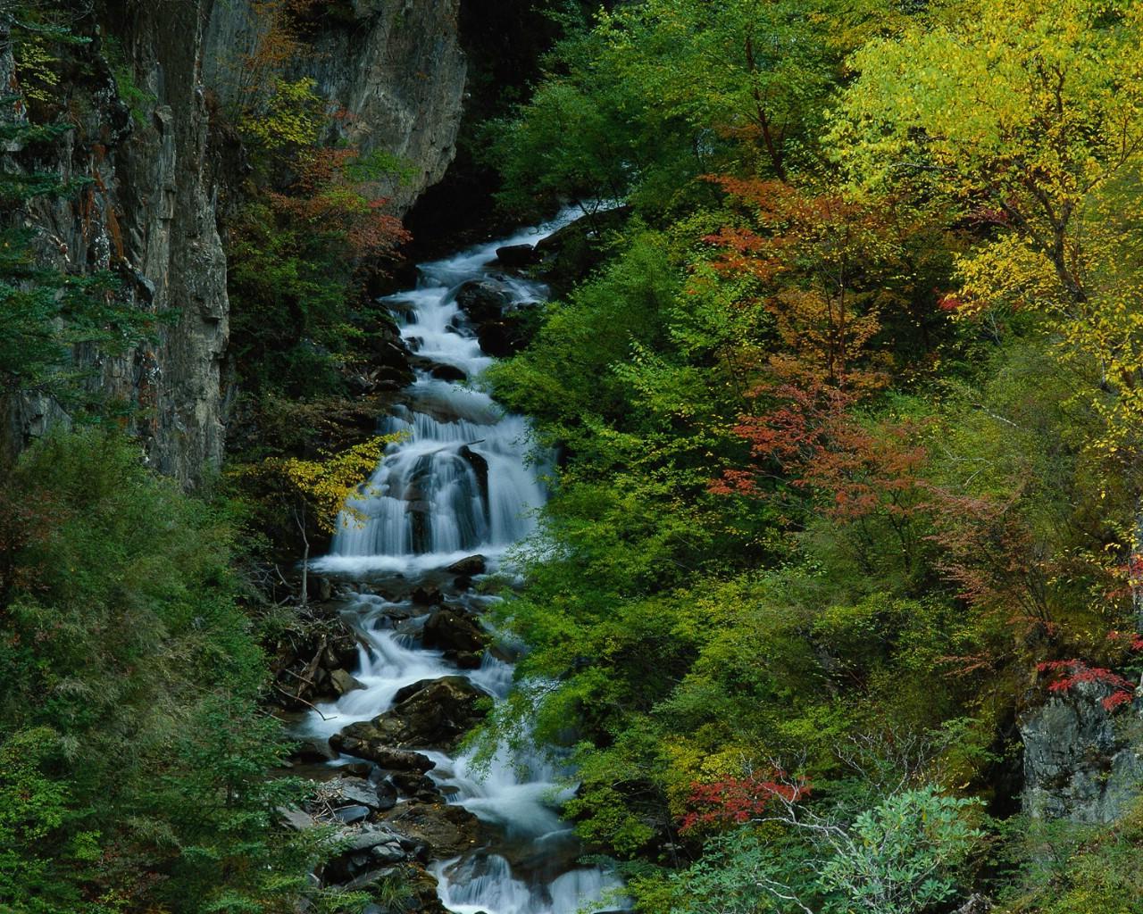 中国山水风景_壁纸1280×1024美丽中国 山水如画 瀑布溪流 中国绝美风光摄影壁纸 ...