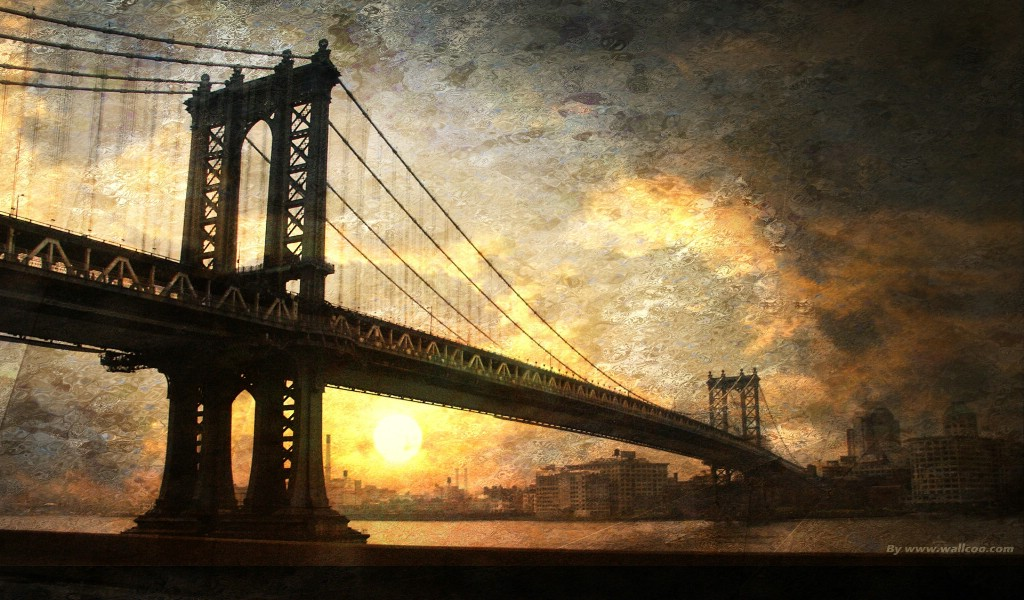 日落下的桥梁 海上桥梁图片壁纸壁纸,The Best of Nature 第五集