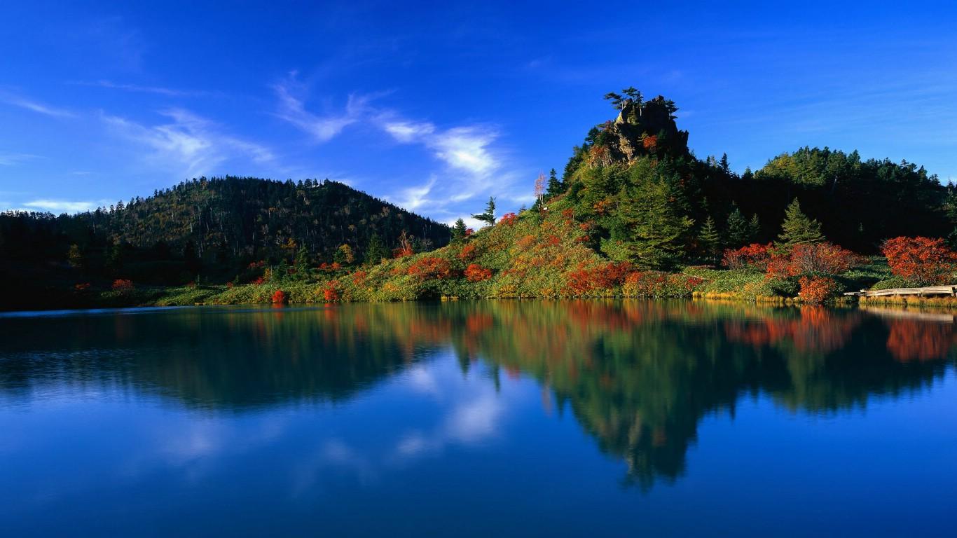 1366x768风景壁纸_壁纸1366×768水天一色 世界自然风光摄影壁纸,The Best of Nature 高 ...