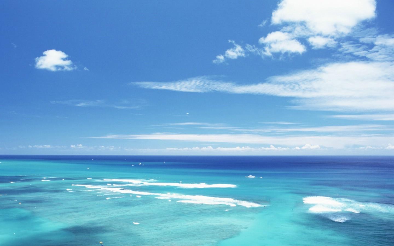 900夏威夷的碧海蓝天 夏威夷海滩图片 蓝天碧海沙滩壁纸,夏威夷浪漫图片