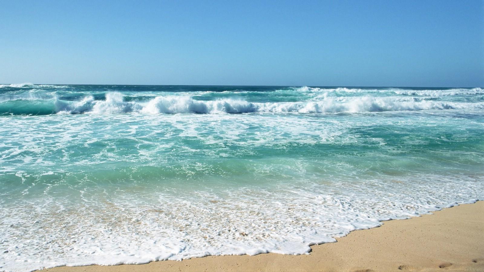 夏威夷海滩图片 清澈海水波浪壁纸,夏威夷浪漫海滩壁纸图片-风景壁纸