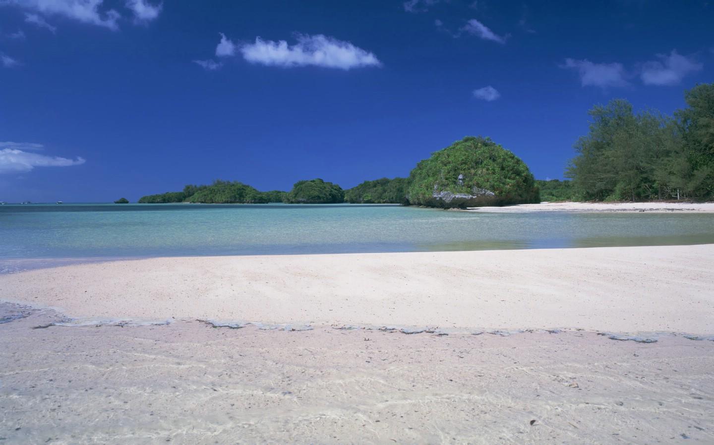 壁纸1440×900夏威夷的碧海蓝天 hawaii 夏威夷海滩图片 .