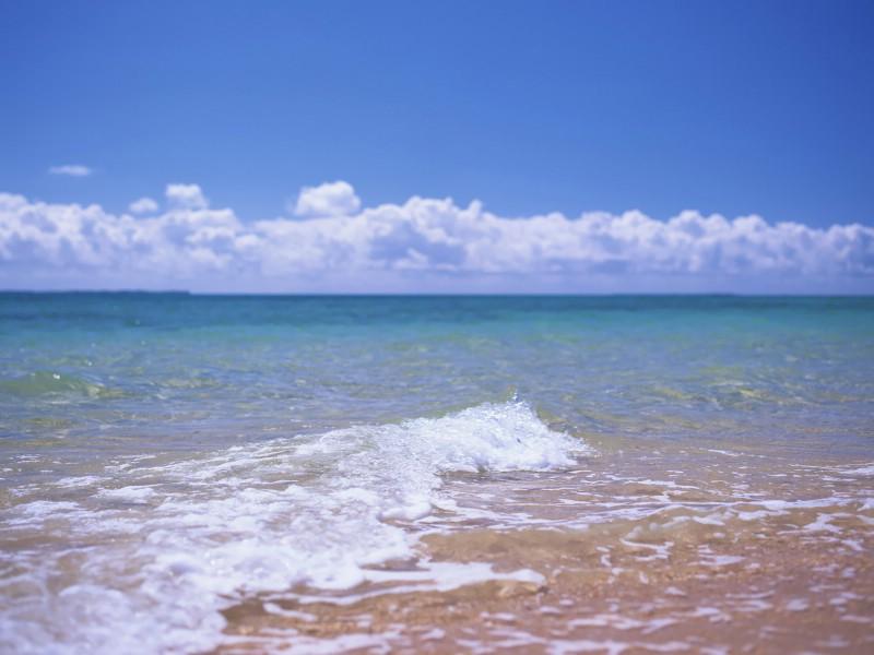 夏威夷的碧海蓝天 夏威夷海滩图片:透明清澈的