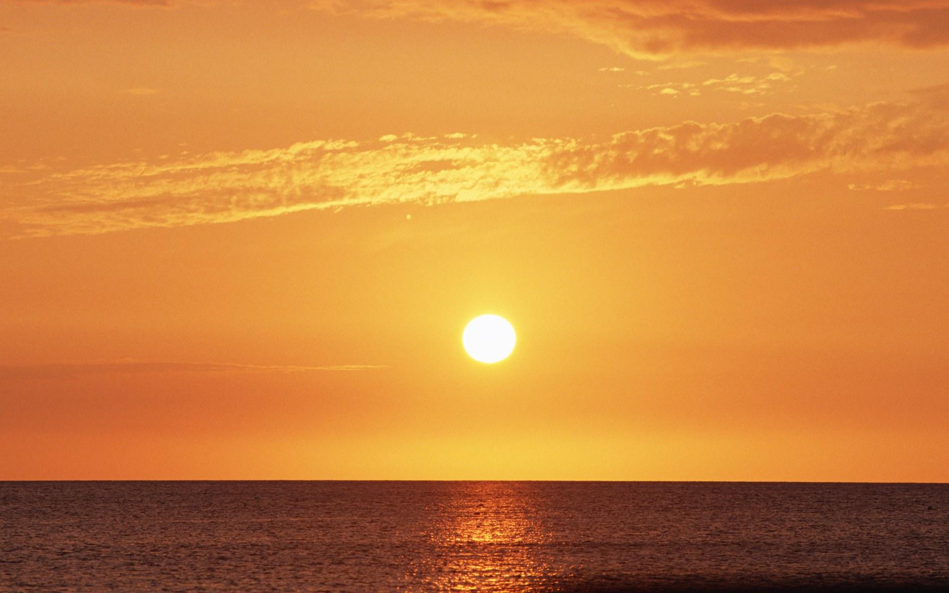 海面日出日落壁纸,夏威夷浪漫海滩壁纸图片-风景壁纸-风景图片素材