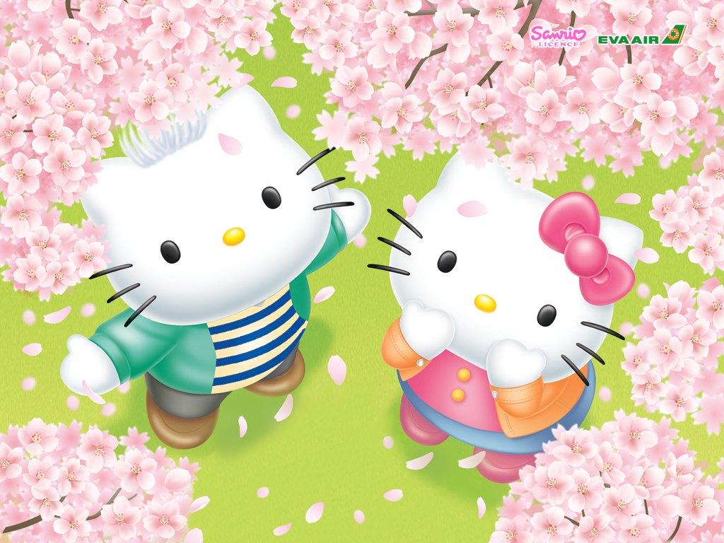 壁纸1024×768Hello Kitty桌面壁纸壁纸 长荣航空Hello Kitty 彩绘机宣传壁纸壁纸图片广告壁纸广告图片素材桌面壁纸