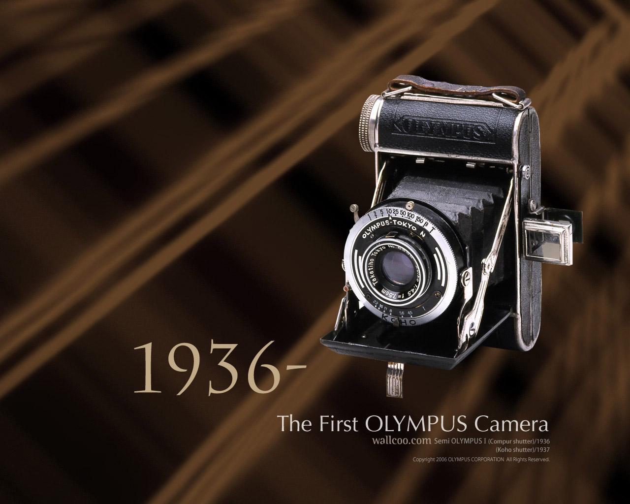 壁纸1280×10241936年 第一部奥林巴斯相机 The First Olympus Camera Semi Olympus I壁纸 Olympus 奥林巴斯70年经典相机壁纸上辑壁纸图片广告壁纸广告图片素材桌面壁纸