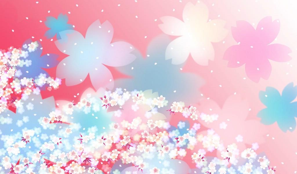 美丽碎花布 之 粉红甜美系壁纸图片-花卉壁纸-花卉图片素材-桌面壁纸