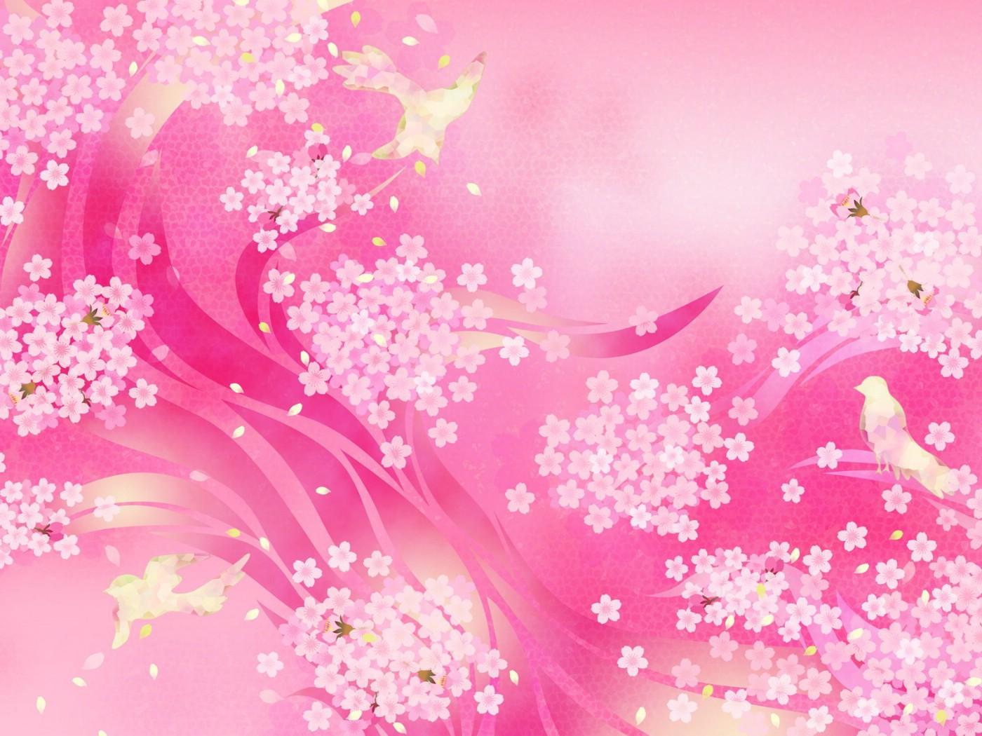 壁纸1400×1050甜美系 小碎花美丽图案设计壁纸 美丽碎花布 之 粉红甜美系壁纸图片花卉壁纸花卉图片素材桌面壁纸