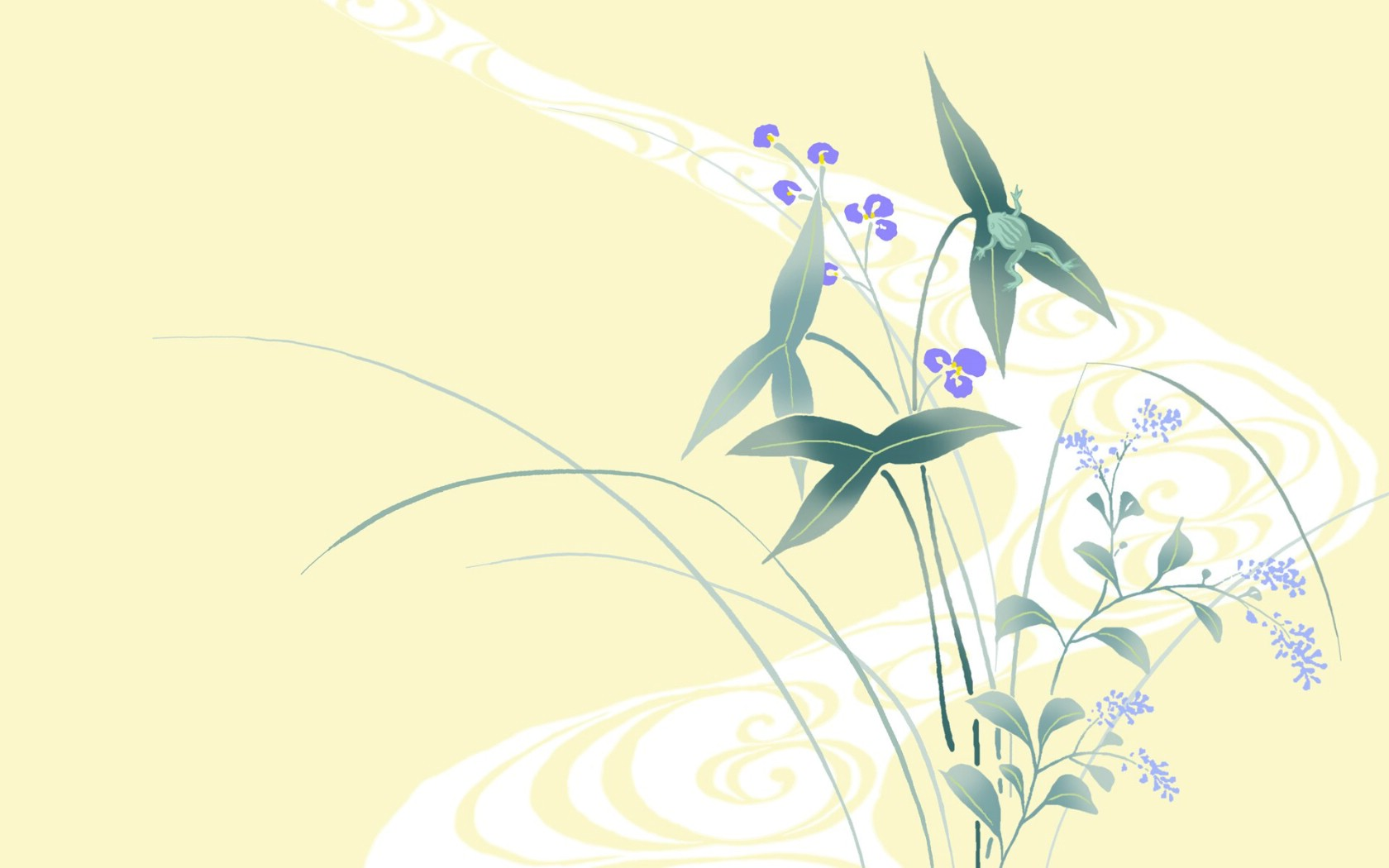 唯美清新 花卉背景图案