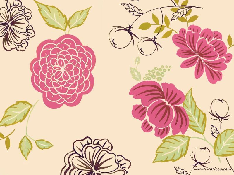 壁纸800×600花卉图案设计 抽象花卉插画壁纸壁纸 艺术与抽象花卉壁纸壁纸图片花卉壁纸花卉图片素材桌面壁纸