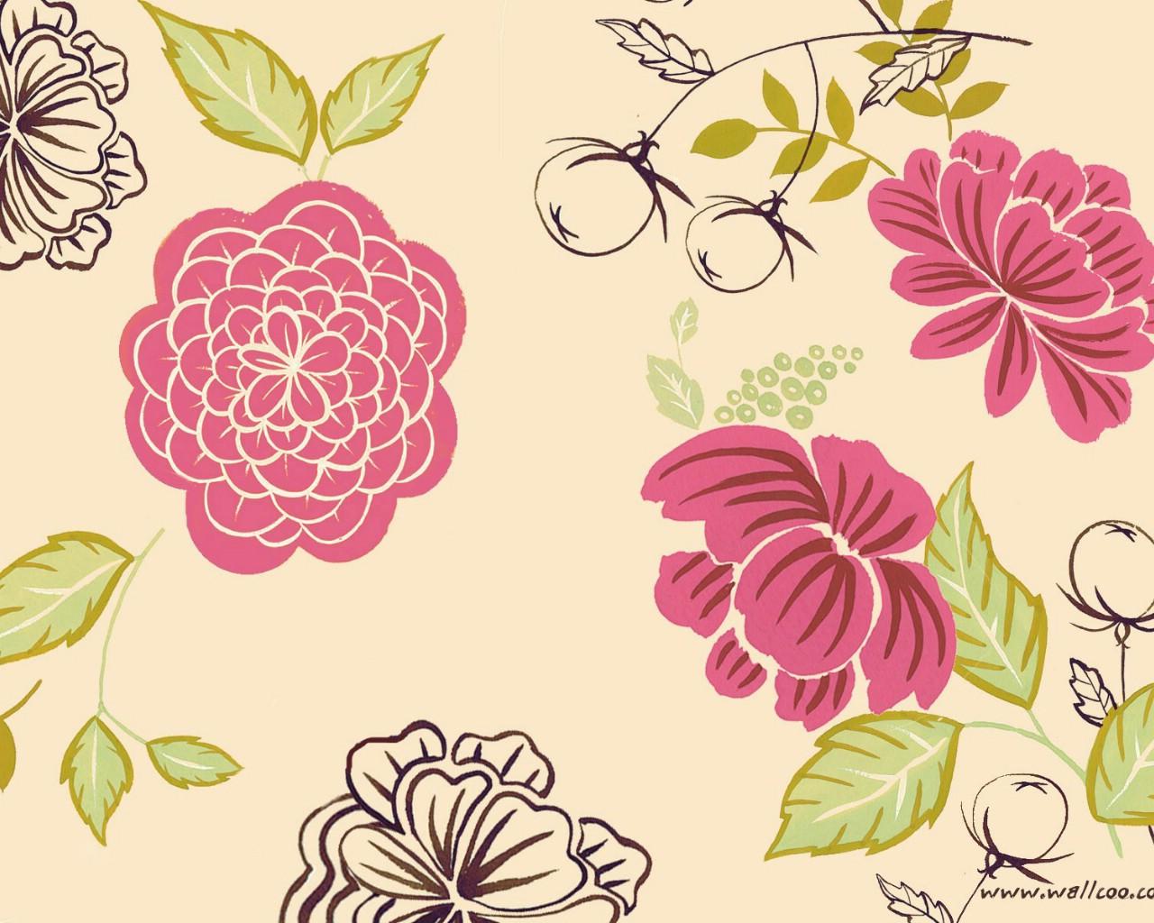壁纸1280×1024花卉图案设计 抽象花卉插画壁纸壁纸 艺术与抽象花卉壁纸壁纸图片花卉壁纸花卉图片素材桌面壁纸