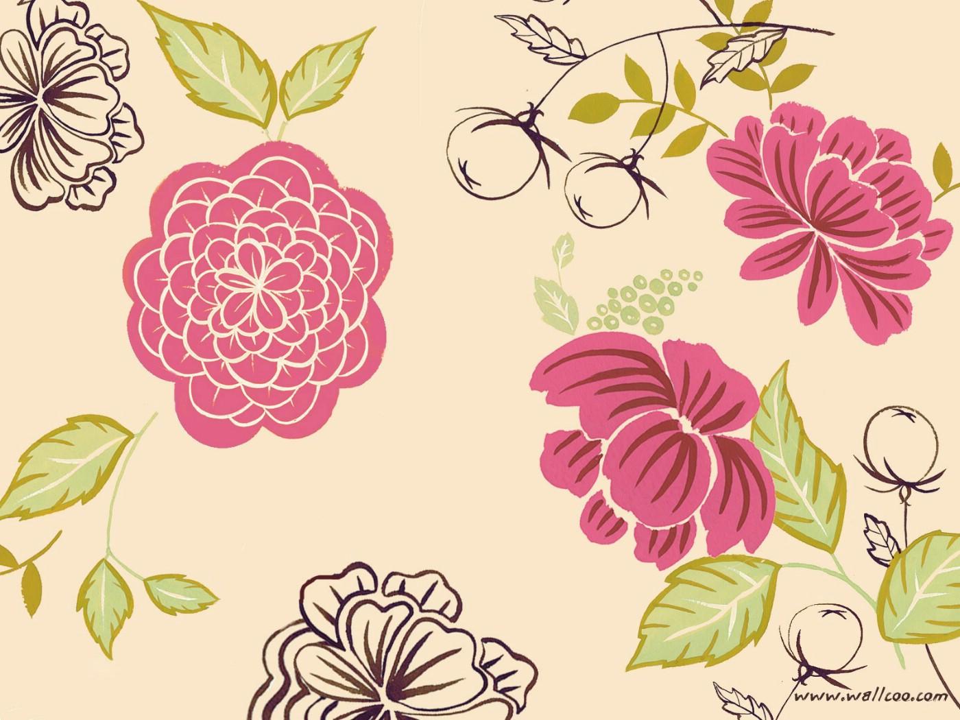 壁纸1400×1050花卉图案设计 抽象花卉插画壁纸壁纸 艺术与抽象花卉壁纸壁纸图片花卉壁纸花卉图片素材桌面壁纸