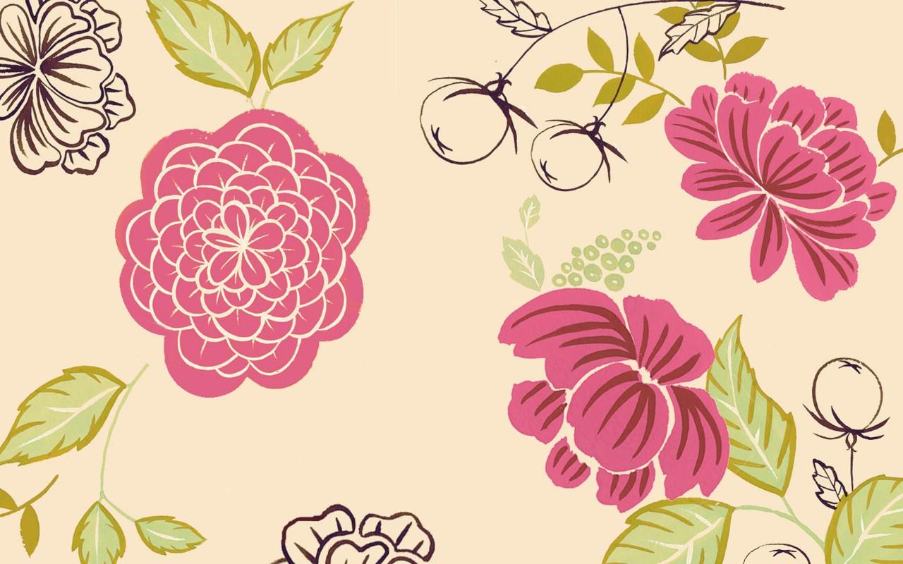 壁纸1280×800花卉图案设计 抽象花卉插画壁纸壁纸 艺术与抽象花卉壁纸壁纸图片花卉壁纸花卉图片素材桌面壁纸