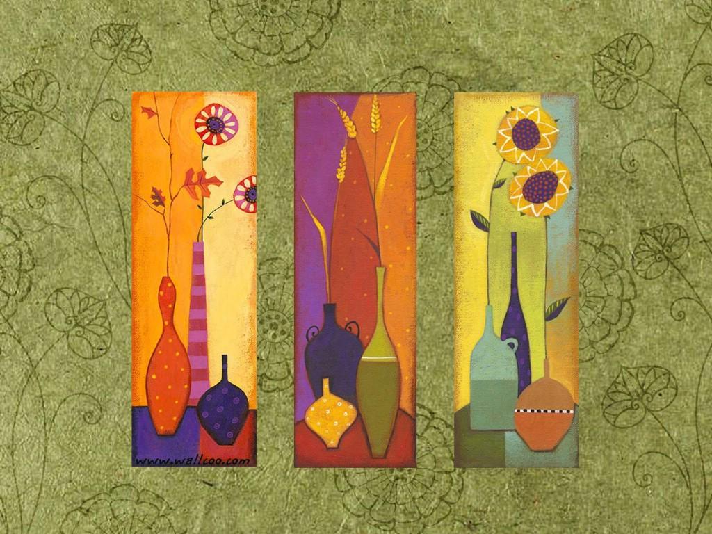 壁纸1024×768艺术花卉壁纸 抽象花卉插画壁纸壁纸 艺术与抽象花卉壁纸壁纸图片花卉壁纸花卉图片素材桌面壁纸