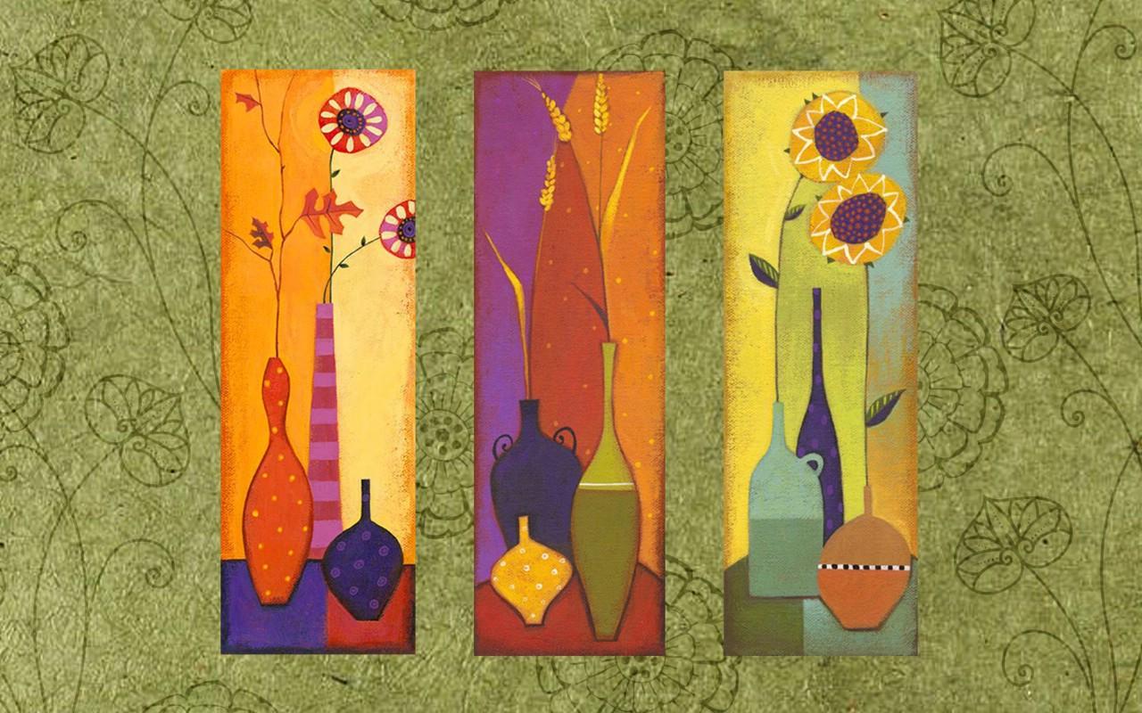 壁纸1280×800艺术花卉壁纸 抽象花卉插画壁纸壁纸 艺术与抽象花卉壁纸壁纸图片花卉壁纸花卉图片素材桌面壁纸