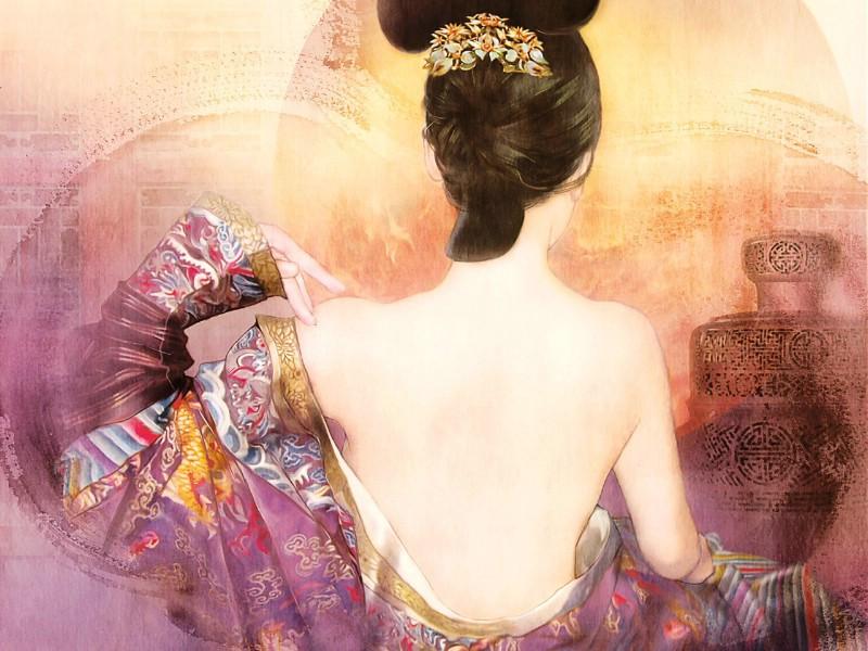 壁纸800×600德珍绘画 古代女子绘画壁纸壁纸 德珍绘馆东方画姬霓裳壁纸图片绘画壁纸绘画图片素材桌面壁纸