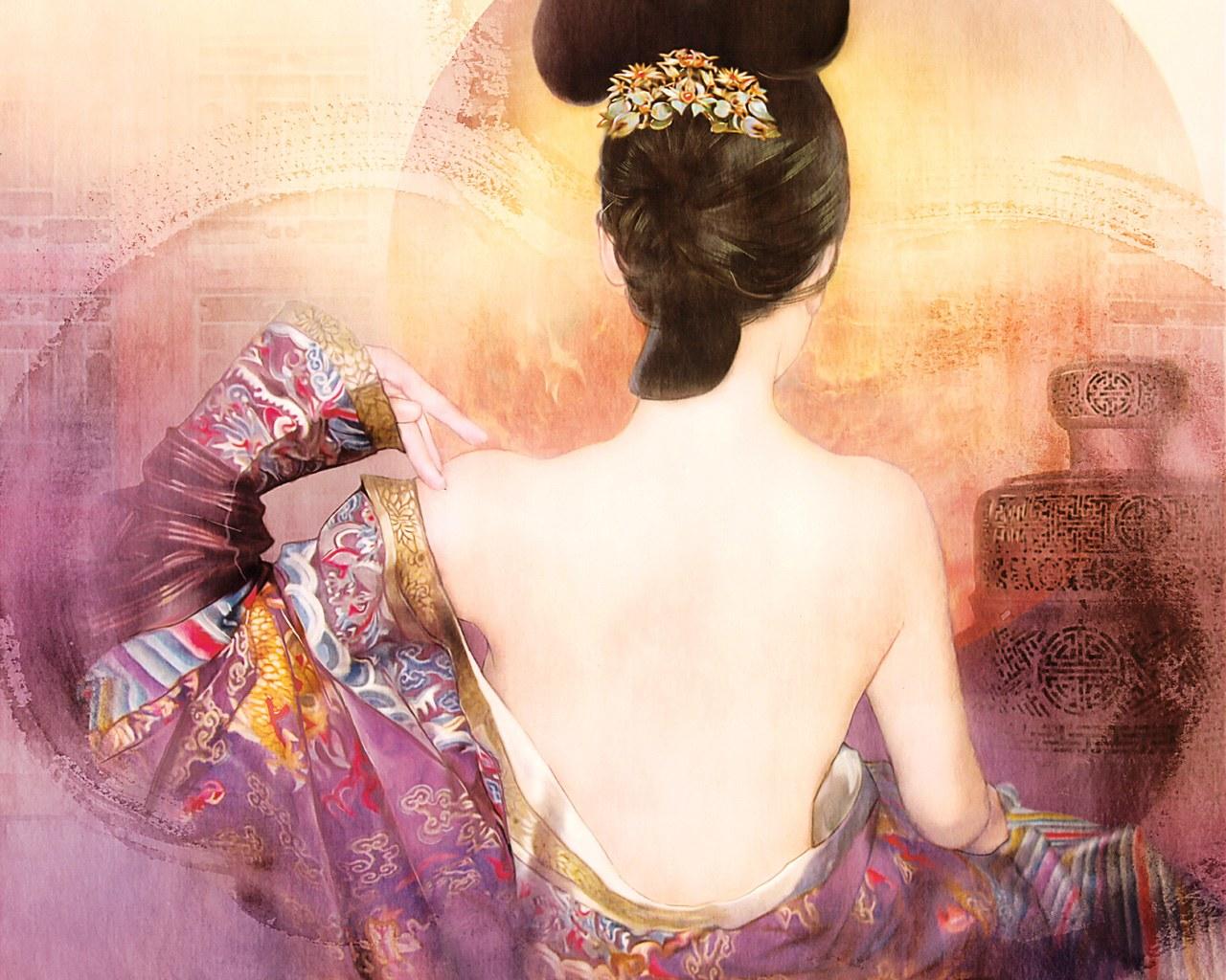 壁纸1280×1024德珍绘画 古代女子绘画壁纸壁纸 德珍绘馆东方画姬霓裳壁纸图片绘画壁纸绘画图片素材桌面壁纸