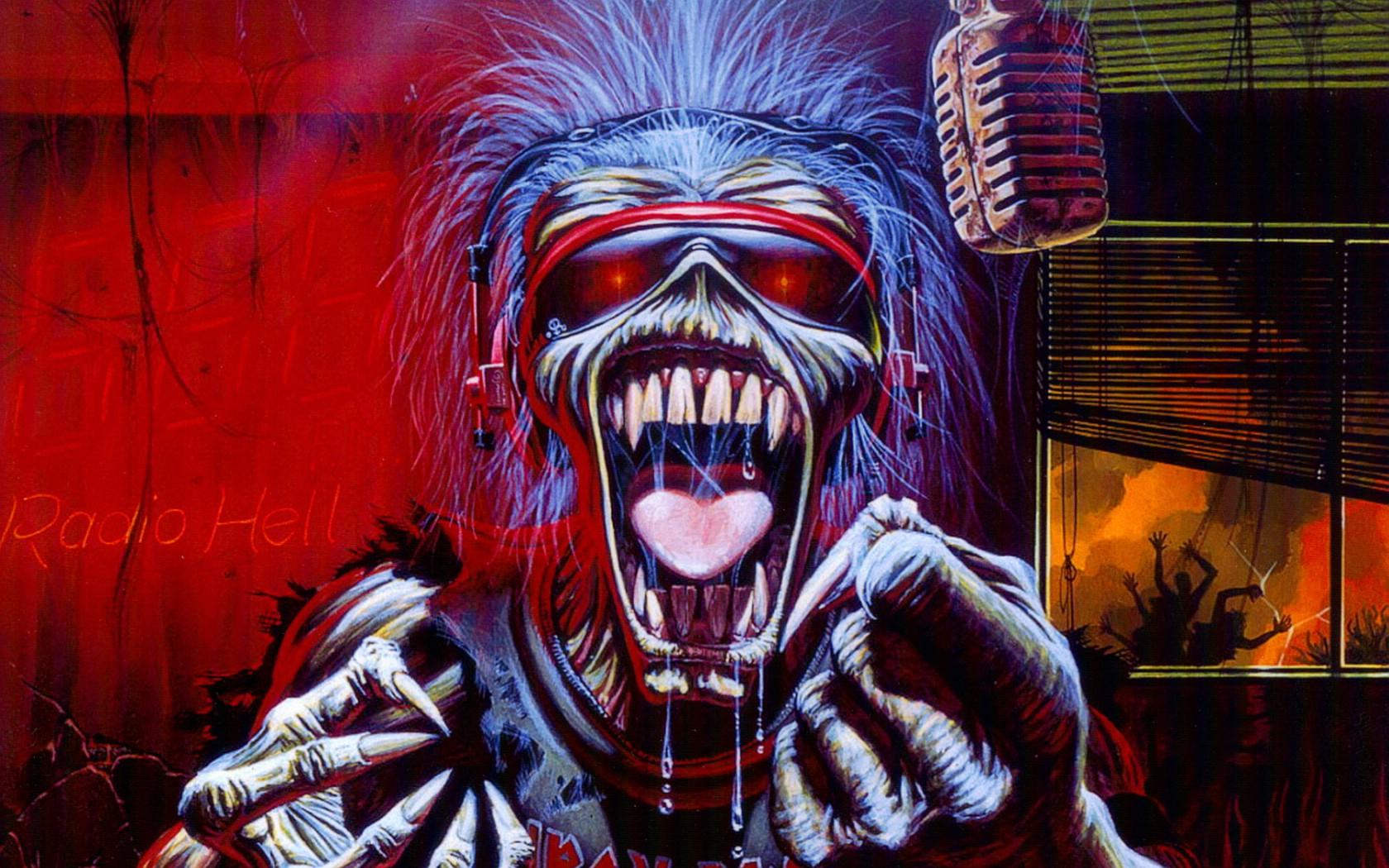壁纸1680×1050Iron Maiden 重金属乐队专辑插