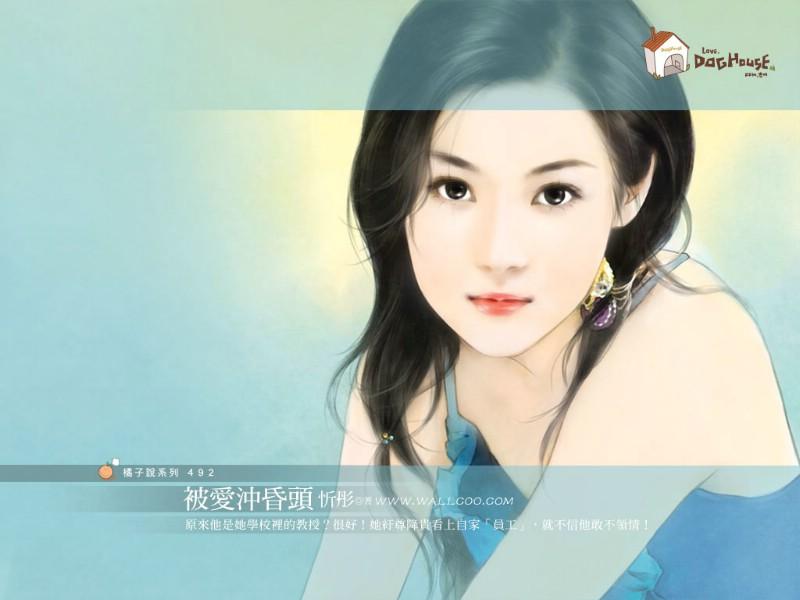 美女手绘壁纸五台湾言情小说