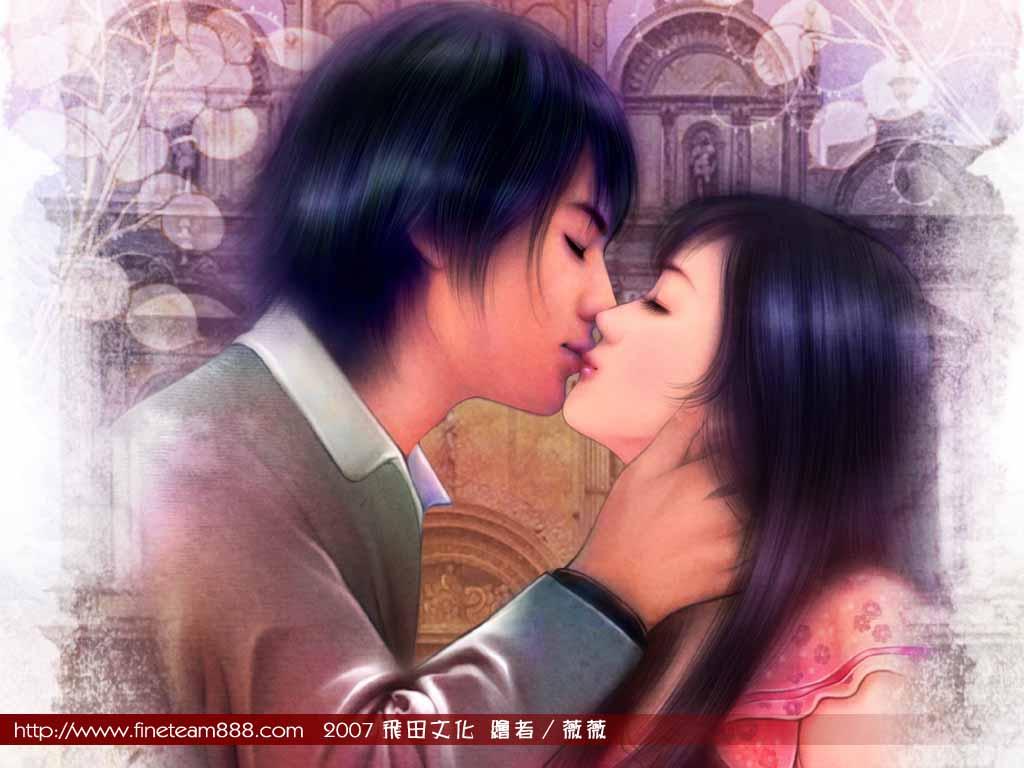 双人情侣头像亲吻
