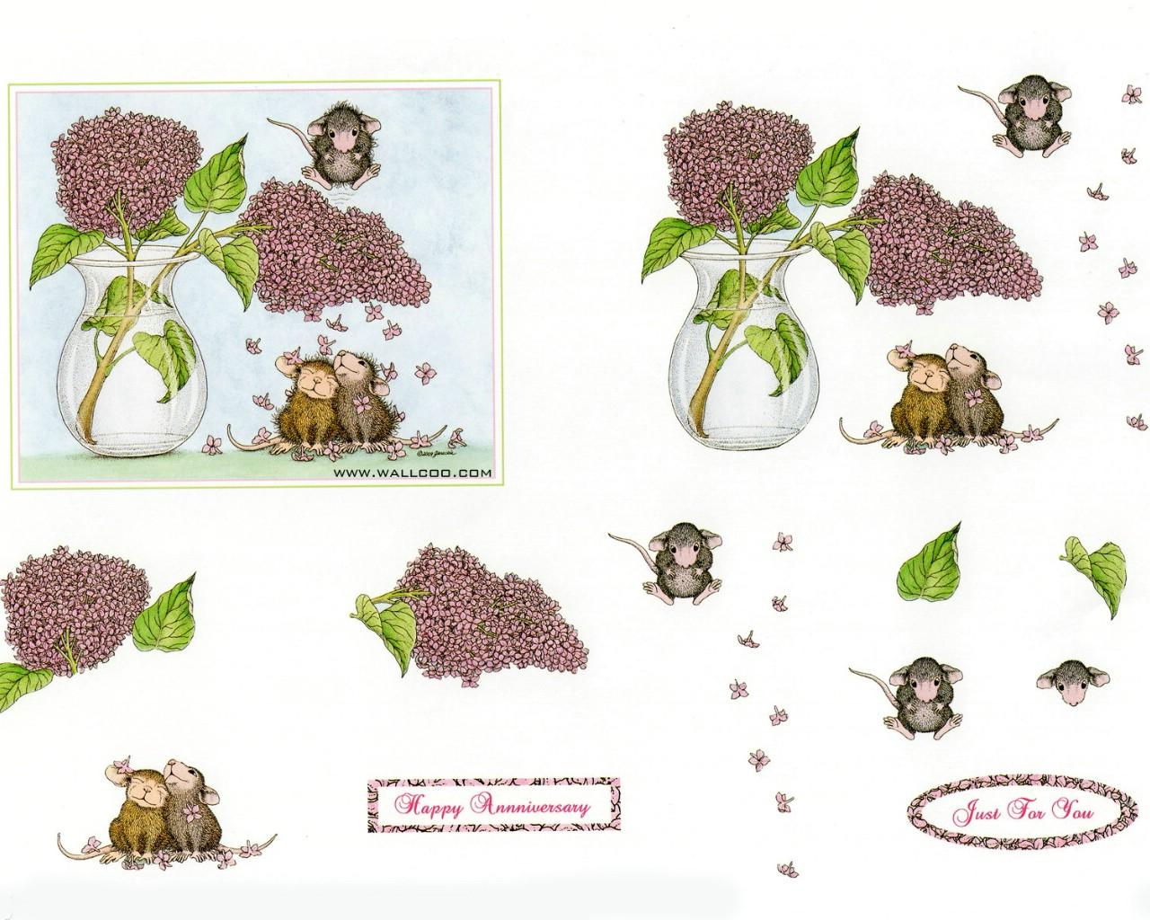 壁纸1280×1024Confeti 可爱小老鼠插画原画壁纸 鼠鼠一家温馨小老鼠插画壁纸壁纸图片绘画壁纸绘画图片素材桌面壁纸