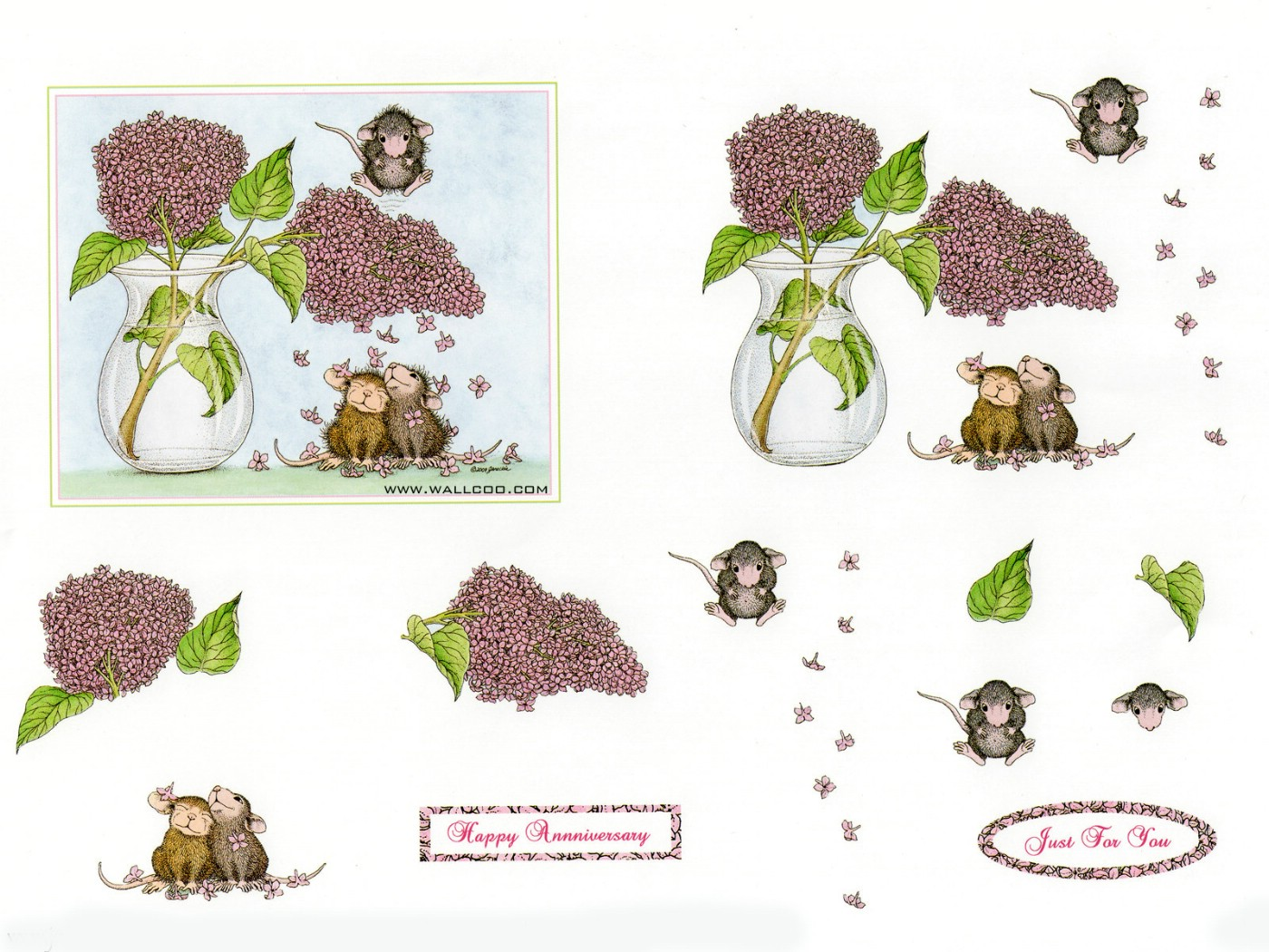 壁纸1400×1050Confeti 可爱小老鼠插画原画壁纸 鼠鼠一家温馨小老鼠插画壁纸壁纸图片绘画壁纸绘画图片素材桌面壁纸